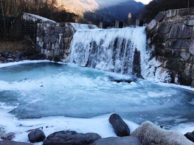 Italy Bienno Myland  Myhome Landlovers Homesick Cold Temperature Frozen Tranquility Beauty In Nature Frozen Lake Waterfall