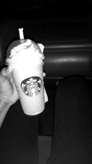 Starbucks Blackandwhite Black & White Starbucks Coffee First Eyeem Photo Frappucino Skinny Jeans