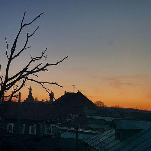 Москва утро восход
