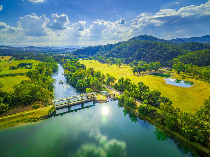 Beautiful lake and river in Australia - aerial landscape Australia Australian Landscape Beautiful Drone  Goulburn River Panorama Panoramic Scenic Aerial Aerial Landscape Aerial View Beauty In Nature Cloud - Sky Countryside Dam Day Drone Photography Eildon Green Color High Angle View Idyllic Lake Lake Eildon Landscape Melbourne Mountain Mountains Nature Nautical Vessel No People Outdoors Reflection River Scenics Sky Tranquil Scene Tranquility Transportation Tree Water Waterfront