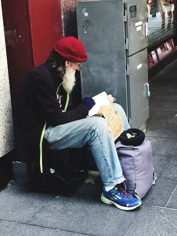 I call him 'The Scholar'. I'd love to know his story Real People Streetphotography EyeEm Gallery Photography No Edit/no Filter From My Point Of View Walking And Taking Pics My Unique Style The Human Condition EyeEm