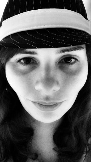 Im going to be a detective for Halloween. XD One Woman Only Portrait Headshot People Close-up Detective Black And White