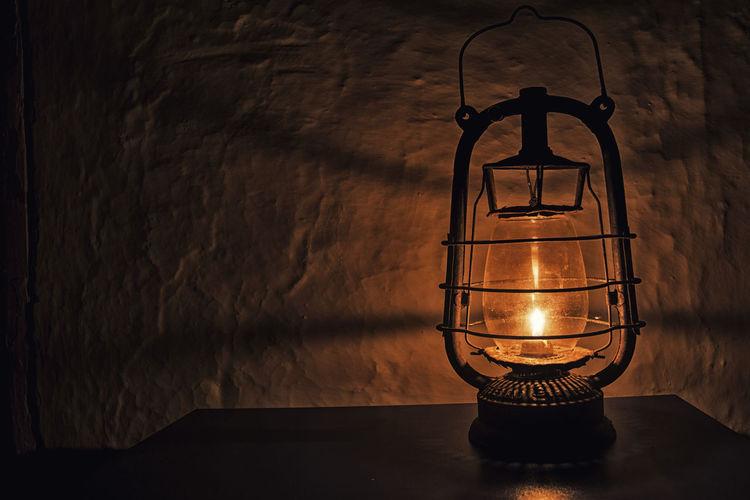 Close-Up Of Illuminated Light Bulb