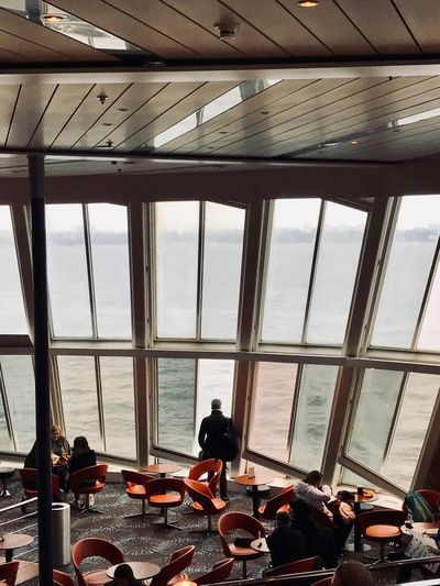 Estonia Ferryboat Ferryboat Ferry ShotOnIphone Transportation Window Sea Real People Water Sky Indoors  Nautical Vessel Lifestyles Transparent Mode Of Transportation Sunlight People Architecture Built Structure Glass - Material Day Ceiling Nature Waiting