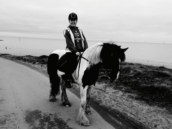 Heather and Skye Merseyside North Wirral Coastal Park Horses Pony's Wallasey Skye Daughter Horse Riding Riding Sand One Man Only Adult Horseback Riding Horse Full Length Domestic Animals One Person Sea Sky Mammal Beach Outdoors