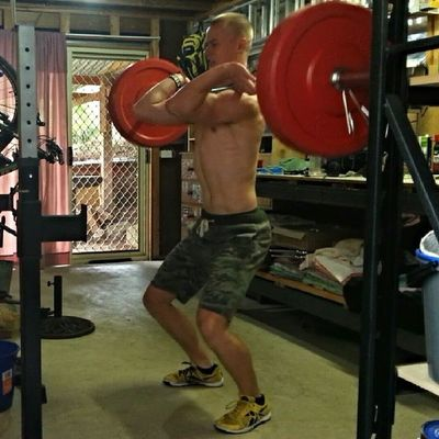 EMOM bear complexes at 70kg (bodyweight). Good way to end the first workout. Hitting some strongman stuff later on. Crossfit Fitness Strength Strongman Unbroken Crossfitaustralia Bear Complex