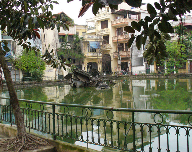 Hanoi B52 Wreckage City City Life Exterior Famous Place Leading National Monument Outdoors Railing Residential District Residential Symbol Of Pride Tropical Climate Urban