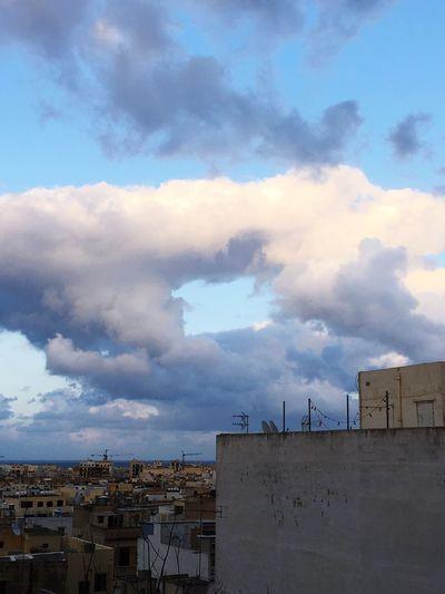 A window through clouds