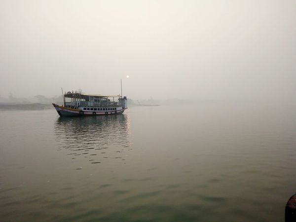 Nautical Vessel Fog Water Environment Nature Tranquil Scene Outdoors Tranquility Silence No People Day Travel Cloud - Sky Sky Travel Destinations Beauty In Nature