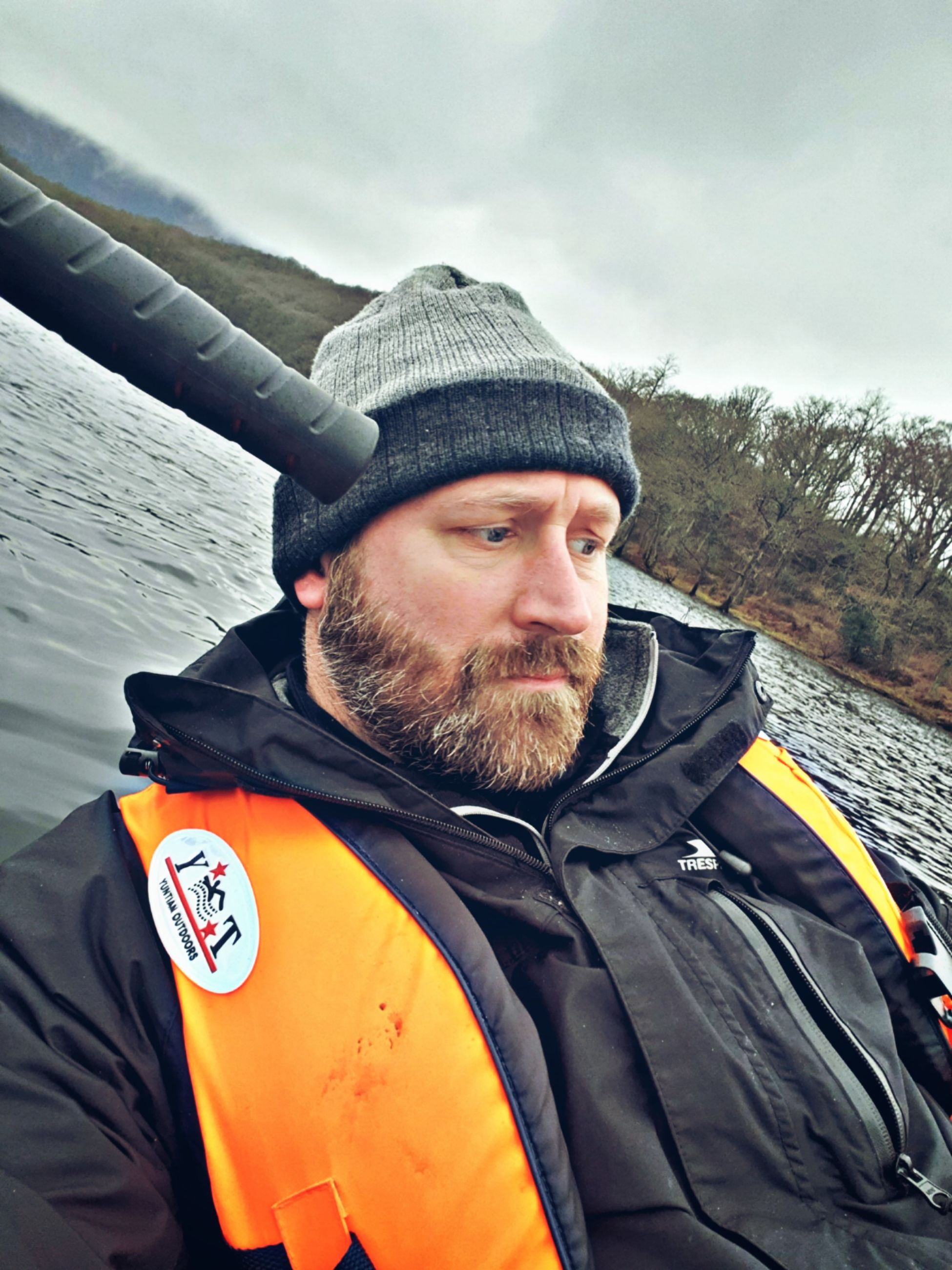 beard, one person, facial hair, clothing, portrait, real people, looking at camera, hat, men, leisure activity, adult, males, lifestyles, water, mid adult, nature, warm clothing, young adult, mature men, outdoors