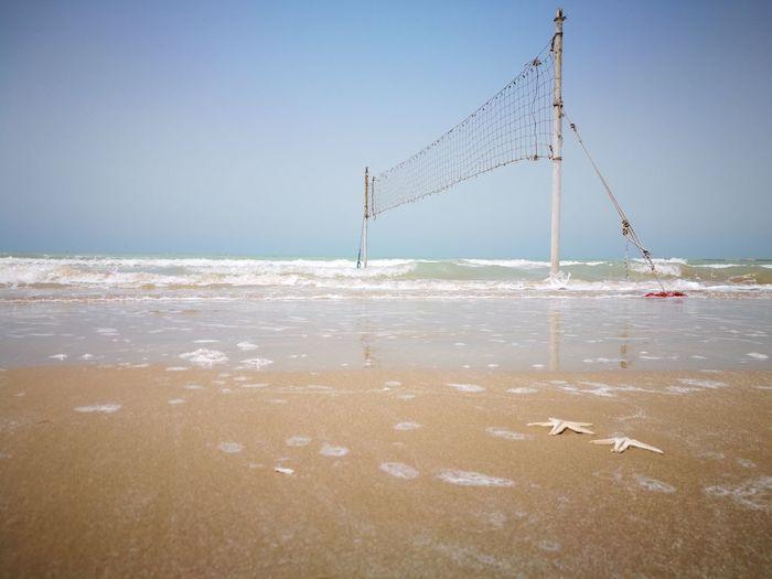 Beach volleyball in siniz Siniz Beach Persian Gulf Emamhasan Port بندر امام حسن سینیز