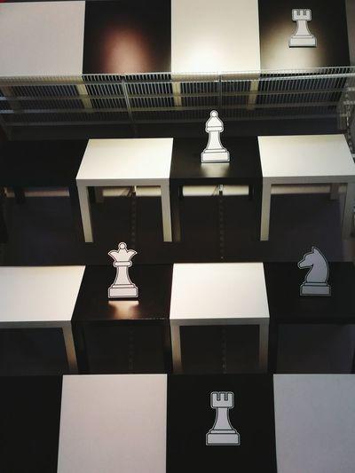 Scacchi Scacchieragigante IKEA Tavoli Tables Biancoenero