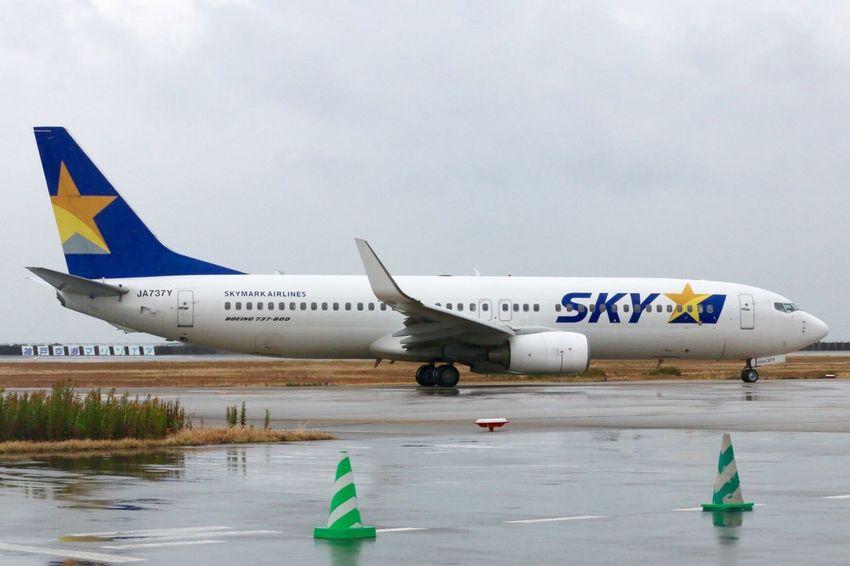 15 11/8 Sun/UKB B737-800 JA737Y RWY09↓ Japan Kobe Kobe Airport UKB RJBE JA737Y Sky Skymark Airlines Boeing B737-800 Boing B737-800 RJBE RWY09↓ K-photo