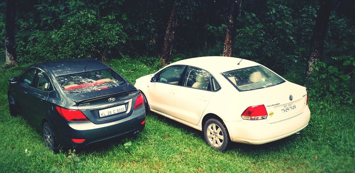Cars Forest In The Forest Nature EyeEm Nature Lover EyeEm Best Shots - Nature Hyundai Volkswagen Vento Verna