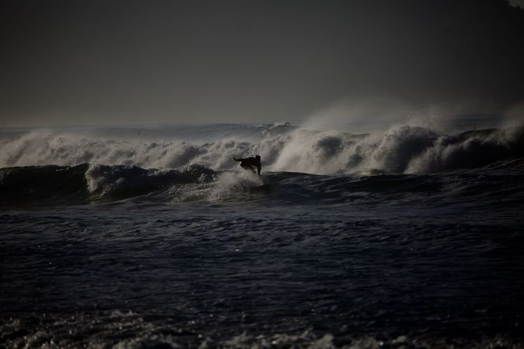 Sea Sky Wave Water Motion Storm Nature Cloud - Sky No People Beauty In Nature Power In Nature Power Land Scenics - Nature Aquatic Sport Horizon Sign Outdoors Horizon Over Water Ominous