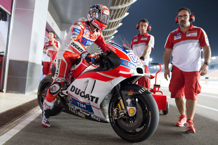 MotoGP riders during the final preseason test before the start of the 2016 MotoGP season Andreadovizioso Losail LosailCircuit Motogp MotoGP2016 Motorcycle Motorsports Preseason Qatar Race Racing Test