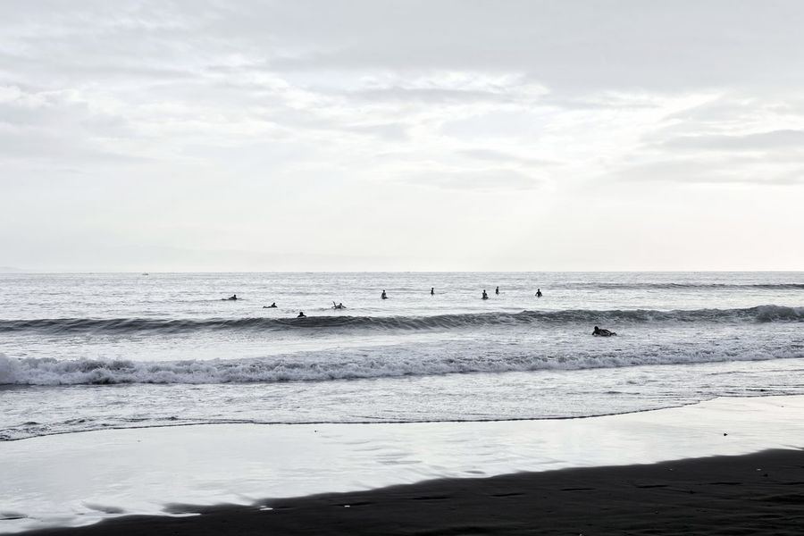 Morning Surfing Bandung Shooter Indonesian Shooter Aquatic Sport Beach Beauty In Nature Cloud - Sky Day Horizon Horizon Over Water Land Motion Nature Non-urban Scene Outdoors Scenics - Nature Sea Sky Tranquil Scene Tranquility Water Wave