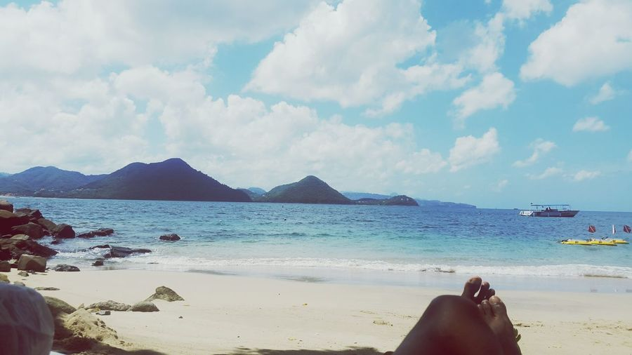 Lovely day Beach Relaxation Sea Cloud - Sky Sand Scenics Outdoors Sky PigeonPoint Caribbean Beauty In Nature Islandgirl Ocean❤