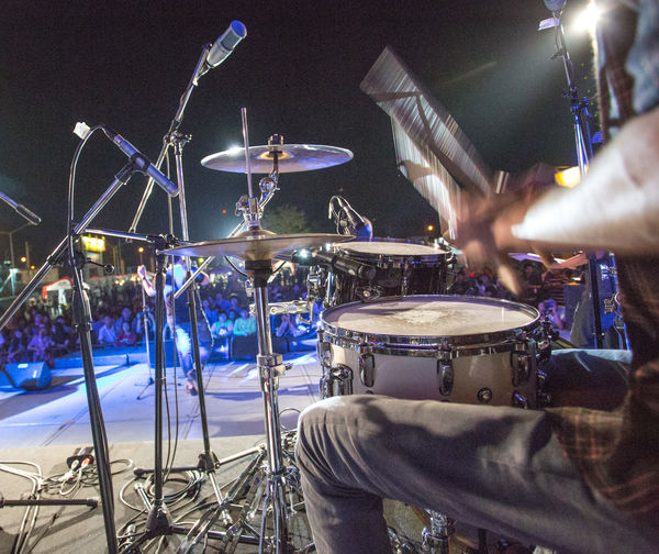 Artist Arts Culture And Entertainment Drum Drum - Percussion Instrument Drum Kit Drummer Enjoyment Event Excitement Festival Hand Men Music Musical Equipment Musical Instrument Musician Nightlife People Percussion Instrument Performance Playing Real People Rock Music Skill  Stage
