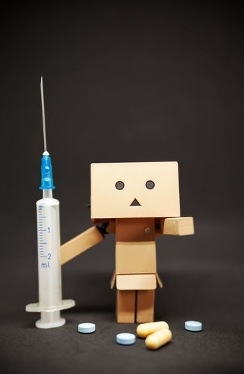 Danbo Danboard Danbophotography Danboard_fan Indoors  Medicine Still Life Studio Shot Healthcare And Medicine No People Toy Sharp Human Representation Needle Creativity Close-up Container Medical Supplies Art And Craft