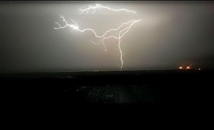 Lightning Power In Nature Thunderstorm Storm Forked Lightning Danger Illuminated Dramatic Sky Storm Cloud Night Weather No People Environment Landscape Electricity  Outdoors Scenics Nature Horizon Over Water Sky
