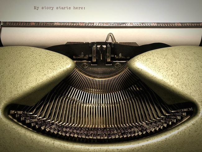 Close-up Typewriter Throwback No People High Angle View Communication Western Script Old Analog