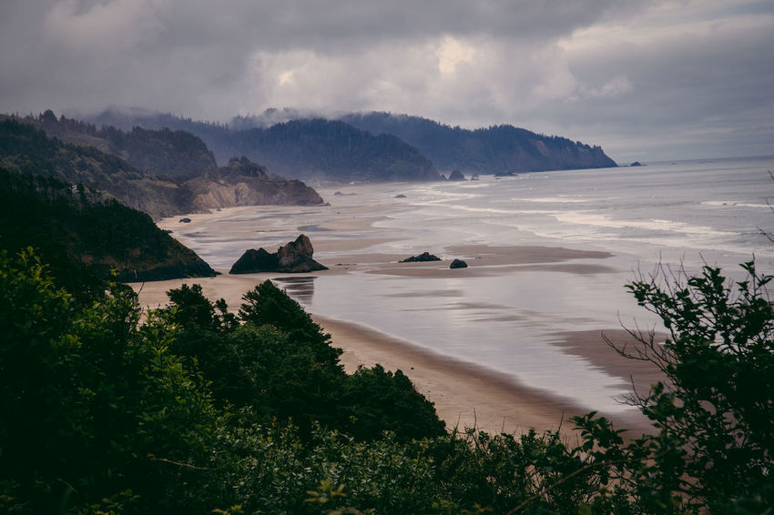 Oregon coast Oregon USA Beauty In Nature Cloud - Sky Day Landscape Mountain Nature No People Oregon Coast Outdoors Scenics Sea Sky Tranquil Scene Tranquility Tree Water West Coast