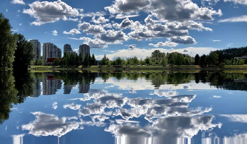 EyeEmNewHere IPhone 8 Plus ShotOnIphone Iphonephotography Town Center Lafarge Lake Coquitlam Reflection Water Cloud - Sky Lake Beauty In Nature Scenics - Nature Reflection Lake Non-urban Scene The Great Outdoors - 2018 EyeEm Awards