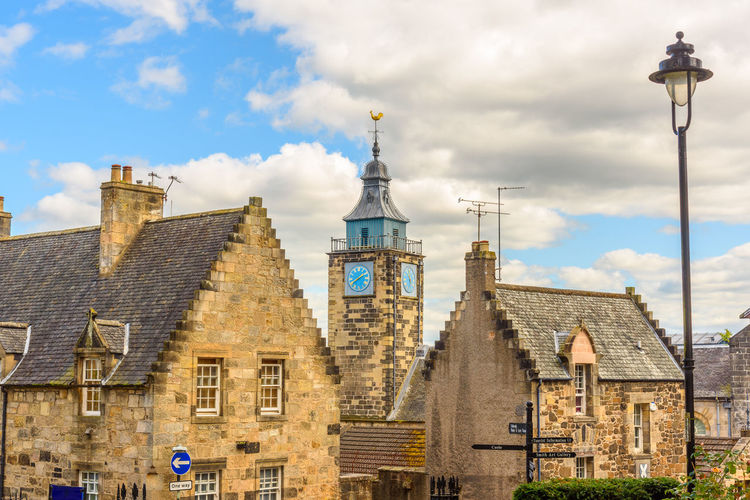 Castle Scotland The Week On EyeEm Architecture Bell Tower Building Exterior Built Structure Cloud - Sky Cross Day History Low Angle View No People Outdoors Place Of Worship Religion Scottish Highlands Sky Spirituality Tower