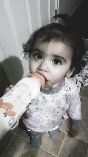 Baby Neice Looking At Camera One Person Indoors  Home Interior Real People Childhood Close-up