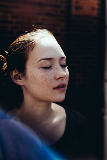 Adult Adults Only Beauty Beauty Spa Body Care Close-up Day Day Dreaming Eyes Closed  Headshot One Person One Woman Only One Young Woman Only Only Women Outdoors People Relaxation Representing Young Adult Young Women The Portraitist - 2017 EyeEm Awards