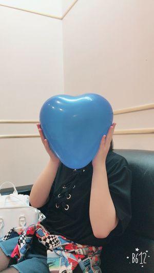 Birthday Blue Heart Balloon Me Karaoke Love Thank You 誕生日にカラオケサプライズしてもらえました Took By My Friend
