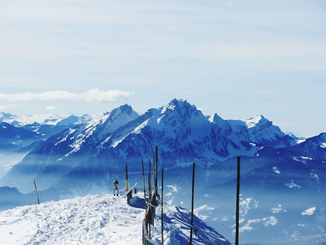 EyeEm Selects Snow Winter Cold Temperature Mountain Weather Nature Beauty In Nature Scenics Snowcapped Mountain Tranquil Scene Mountain Range Tranquility White Color Frozen Day Outdoors Adventure Landscape Sky Ski Holiday Switzerland Switzerland Alps