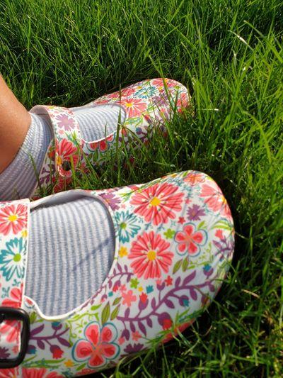 my flowery feet