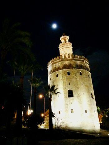 Seville Night Run Full Moon Night
