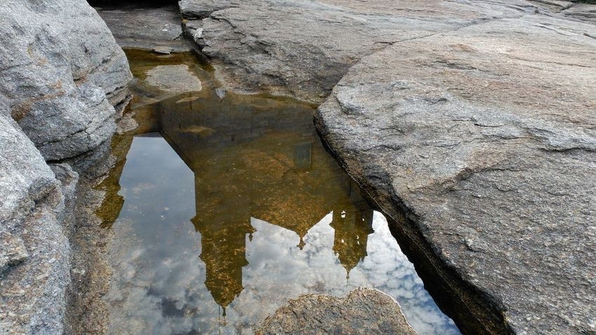 Reflections In The Water Sanctuary  Water Rock - Object