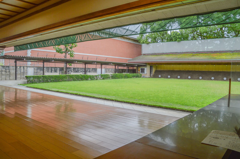 Kyudo Hall At The Kyoto Budocenter Japan Center Growth Japan Japanese  Budo Budocenter Butokuden Hall Kyoto Kyoto,japan Kyudo