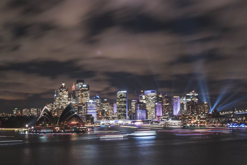 Vivid 2017 Architecture Illuminated Night City Cityscape Travel Destinations Urban Skyline Waterfront Live For The Story