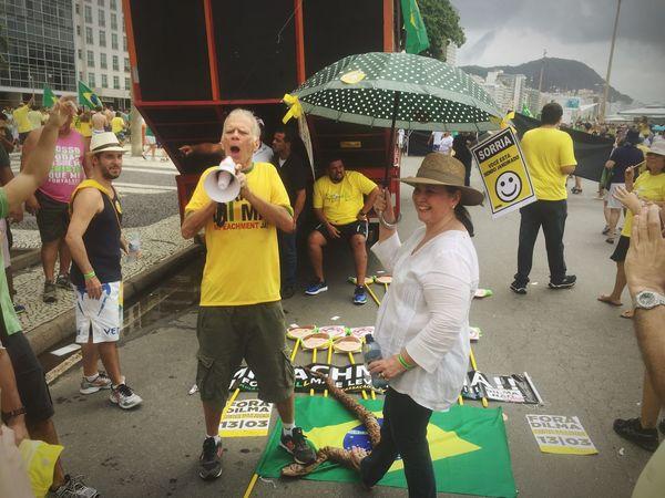 The Photojournalist - 2016 EyeEm Awards Protest Brasil Against It's President Impeachment