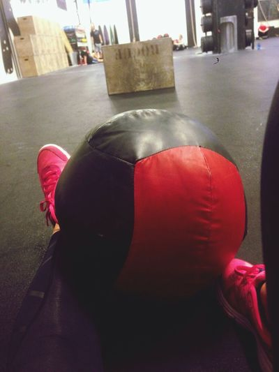 10 rounds on time: i used 11:15 mins. 5 wall balls 10 box jumps