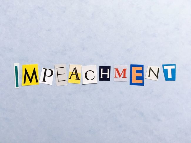 Impeachment Communication Text Western Script Capital Letter No People Multi Colored Yellow