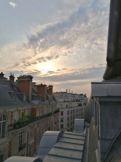 Paris roof Architecture Sunset Sky Cloud - Sky Paris From My Point Of View No People Huaweiphotography Building Exterior