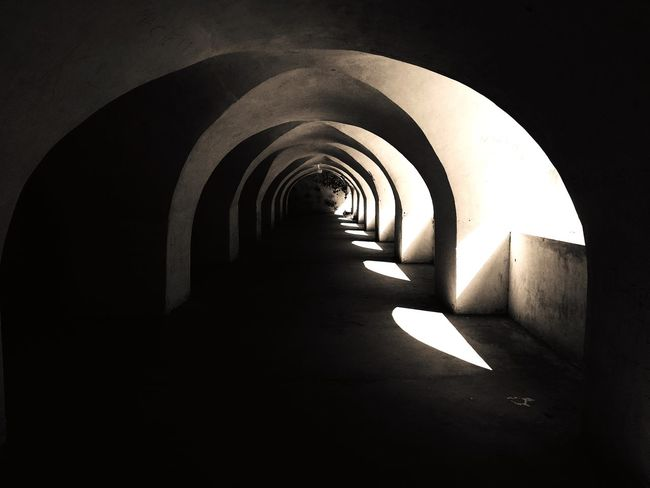 Dungeon..! Colonel Baily's Jail on Kaveri banks..! Dungeon Jail Torture Chamber Arch Architecture Built Structure The Way Forward Indoors  Tunnel No People Day Illuminated