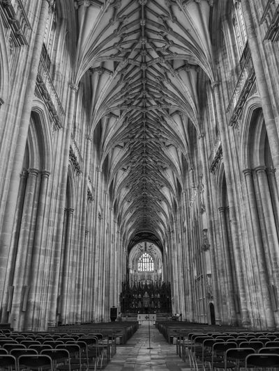 Abbey Aisle Arch Architectural Column Architecture Architecture And Art Belief Building Building Exterior Built Structure Ceiling Direction Gothic Style History In A Row No People Pew Place Of Worship Religion Spirituality The Past