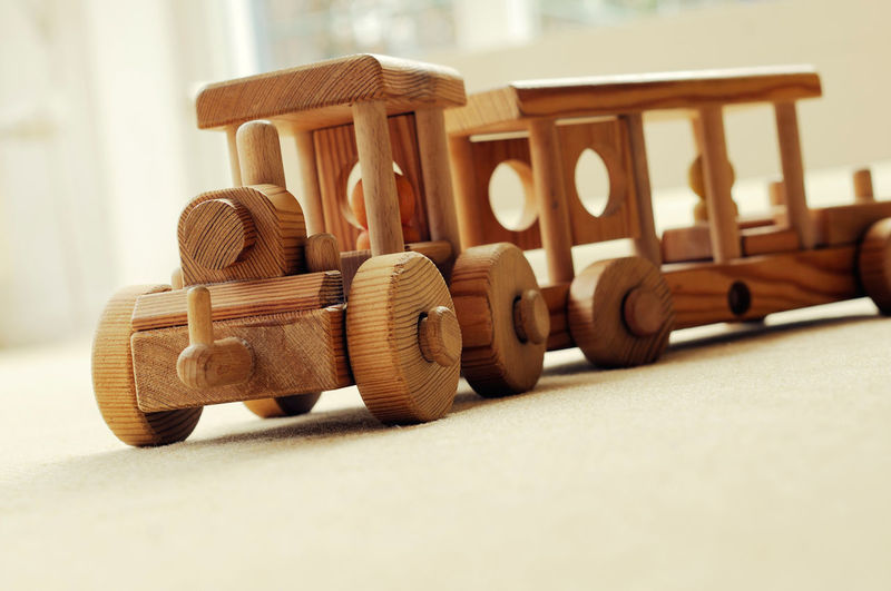 Close Up Of Wooden Train