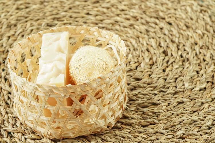 Close-up of wicker basket