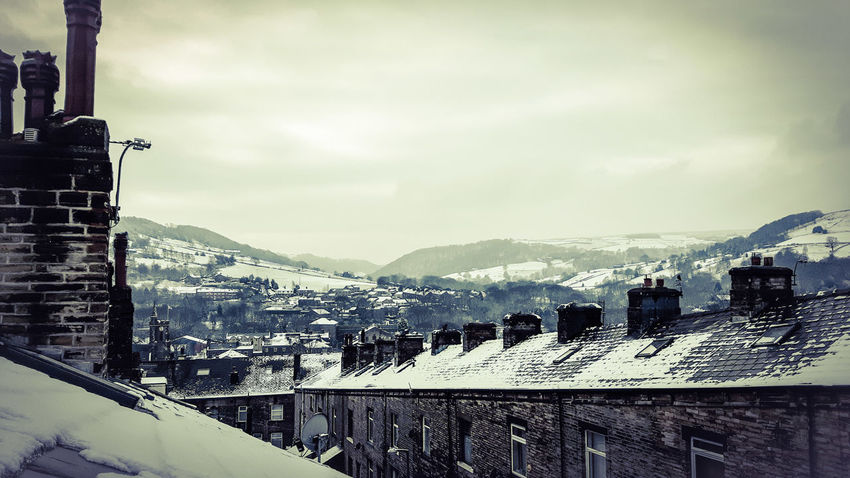 Snowy Yorkshire rooftops this morning Snow Rooftop Rooftops Chimney Winter Yorkshire Cold