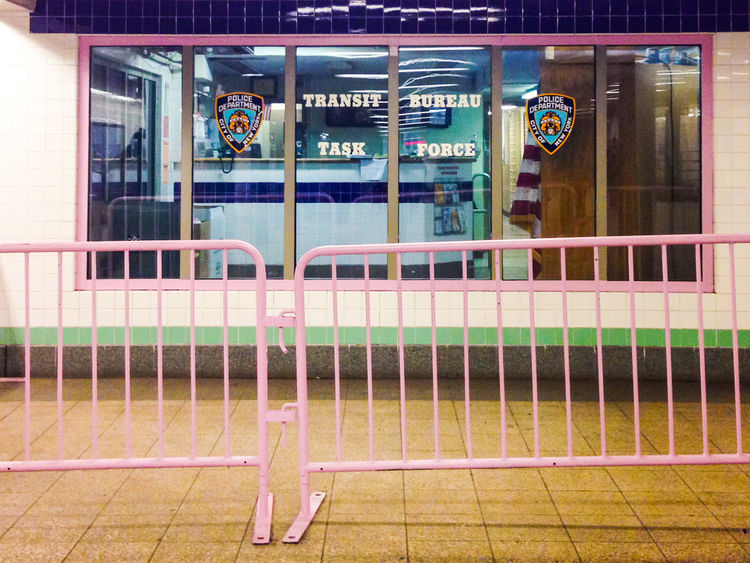 Pink barrier outside New York City subway police station Barrier Color First Eyeem Photo Freedom Gayrights GenderEquality New York City No People NY NYC Pink Police Queen Queer Resist Solidarity Subway Transit