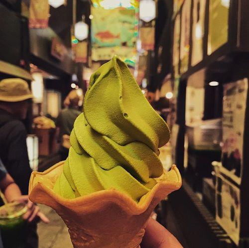 Icecream Matchaicecream Nippon Japan Nishiki Market  Goodfood Dessert Desertporn