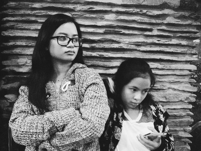 Mono duo Young Women Two People Eyeglasses  Monochrome Real People EyeEmNewHere Olympus E-P3 Break The Mold The Photojournalist - 2017 EyeEm Awards